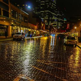 Seattle Rain by Kathy Suttles - City,  Street & Park  Street Scenes