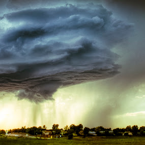 Storm Cell by Geoff Ridenour - Landscapes Weather ( geoff ridenour, aurora, cell, colorado, storm, tornado )