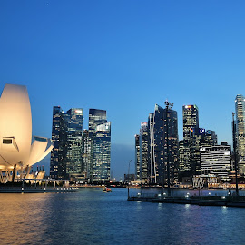 Marina Bay by Koh Chip Whye - City,  Street & Park  Skylines