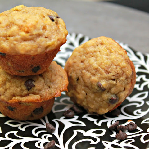 Perfect Mini Banana Chocolate Chip Muffins