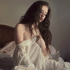 Illuminated Loneliness 2 by B Lynn - People Portraits of Women ( boudoir, woman, women, light, people, best female portraiture )