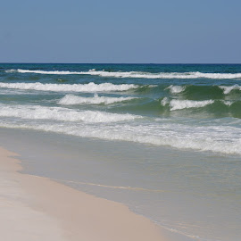 Great Waves by Kayla House - Landscapes Beaches ( water, sand, waves, calming, ocean, beach, beauty, sandy, relaxing, sun, sandy beaches, beaches, vacation, great, florida, sunny, summer )