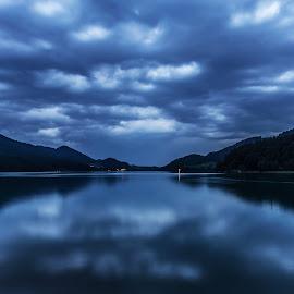 Lake Fuschl Austria  by Linda Brueckmann - Landscapes Waterscapes