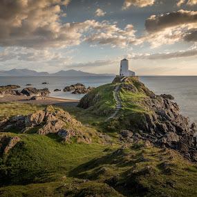 Llanddwyn Island by Kevin Standage - Landscapes Beaches ( canon, landmark, mountains, llanddwyn island, wales, lighthouse, sea, landscape photography, beach, landscape, coast, island )