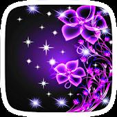 Purple Neon Flower Theme APK for Blackberry