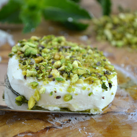 Baked Goat Cheese with Nut and Herb Crust