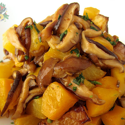 Ginger Shiitake and Roasted Roots