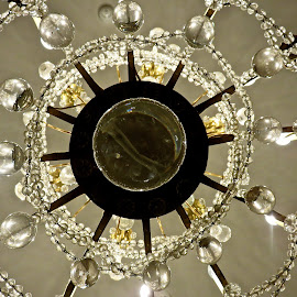 RADIAL SYMMETERY CHANDELIER by Doug Hilson - Abstract Patterns ( abstract, chandelier, symmetery, underneath shot, glass crystel )