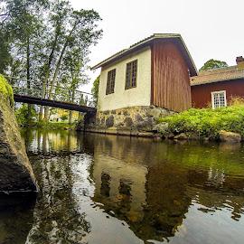 by Nikos Diavatis - Buildings & Architecture Bridges & Suspended Structures ( fisheye, bridge, river )