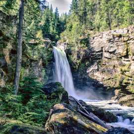 Sutherland Falls HDR by Corey Yeatman - Landscapes Waterscapes ( nature, canada, hdr, revelstoke, waterfall, bc )