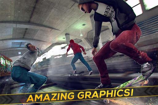 Subway Skateboard Ride Tricks - Extreme Skating screenshot 2