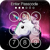 Emoji Unicornio Heart PIN Lock Icon
