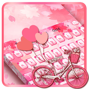 Pink Love Bike Keyboard for PC-Windows 7,8,10 and Mac