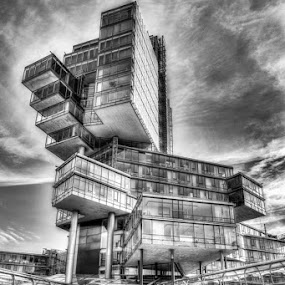 The future is now ! by Kai Buddensiek - Buildings & Architecture Office Buildings & Hotels ( hannover, home, b&w, hdr, nord/lb, 24-105 )