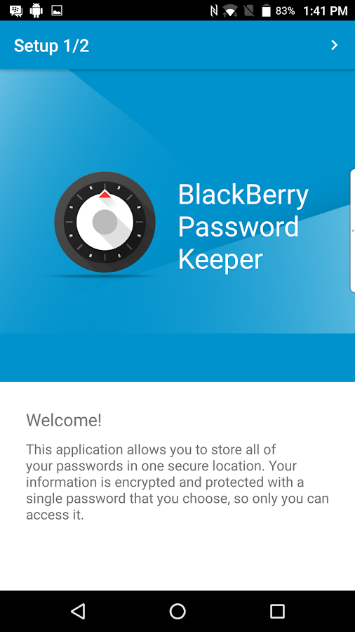 BlackBerry Password Keeper Screenshot 0