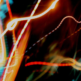 all of the lights by Sunday Mccollum - Abstract Light Painting ( lights, colots, bright, streaks )