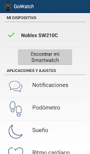 Noblex GoWatch - screenshot
