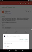 Screenshot of PrintJinni Mobile Printing App