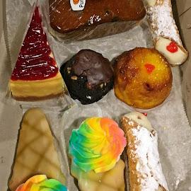 Bakery Box by Sandy Stevens Krassinger - Food & Drink Candy & Dessert ( dessert, cheesecake, pineaple upside down cake, canoli, pumpkin bread, food, cookies )