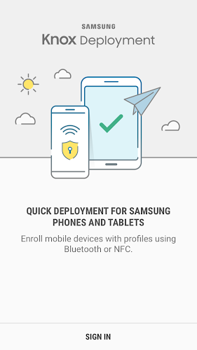 Samsung Knox Deployment Android App Screenshot