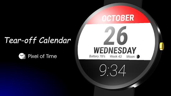 Tear-off Calendar - Watch Face