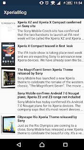Newsfeed App for XperiaBlog - screenshot