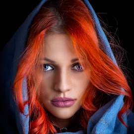 Izzy 2 by Samir Zahirovic - People Portraits of Women ( #lips, #portrait, #hair, #redhair, #woman, #face, #blueeye, #red, #eye, blue )