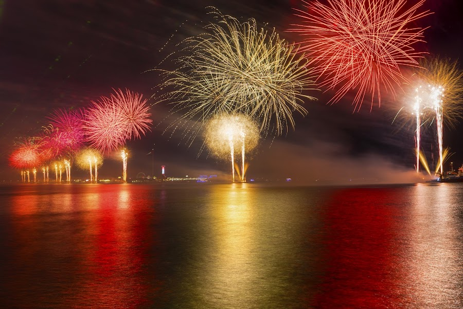 UAE 46th National Day by Vince Garcia - Abstract Fire & Fireworks