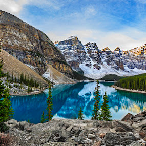 Moraine Lake by CK Lam - Landscapes Mountains & Hills ( canada, alberta, canadian rockies, banff national park, rockies, sunrise, moraine lake )