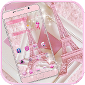 APK App Theme Pink Paris Eiffel Tower for BB, BlackBerry