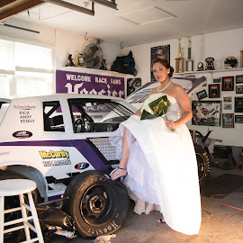 Racing Bride by Dave Green - Wedding Bride