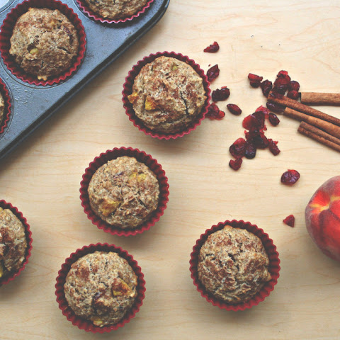 Oatmeal Peach and Cranberry Muffins (Low Sugar)