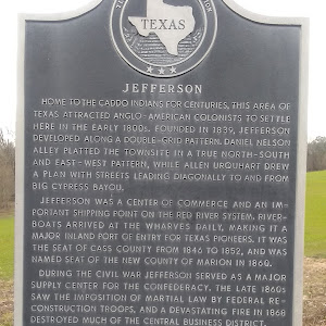 Home to the Caddo Indians for centuries, this area of Texas attracted Anglo-American colonists to settle here in the early 1800s. Founded in 1839, Jefferson developed along a double-grid pattern. ...