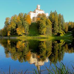 Trakošćan by Marko Dragović - Buildings & Architecture Public & Historical ( water, reflection, castle, lake, zagorje, trakošćan )