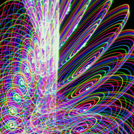 Multi color dish by Jim Barton - Abstract Patterns ( laser light, colorful, light design, laser design, laser, laser light show, light, multi color dish, science )