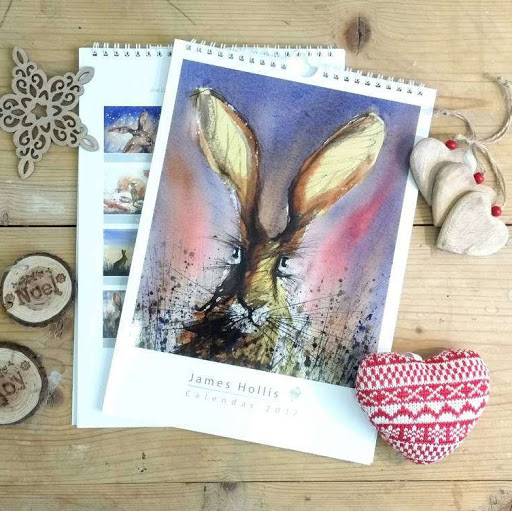 Hare rabbit bunny calendar 2016 British English animal art