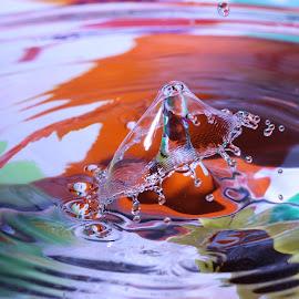 by Liana Lputyan - Abstract Water Drops & Splashes ( water drop  art )