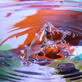 by Liana Lputyan - Abstract Water Drops & Splashes ( water drop  art )
