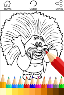 Coloring Pages for Trolls Fans