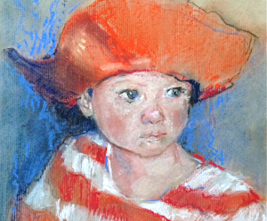 """The Cowboy Hat Pastel 12x12"""""""