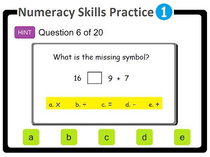 Numeracy Skills Practice 1 - screenshot