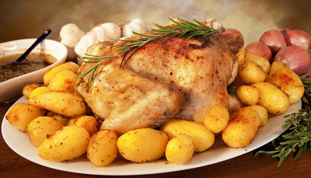 Lemon-Rosemary Roasted Chicken With Crispy Potatoes Recipes ...