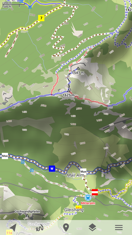 Trekarta - offline maps for outdoor activities Screenshot 2