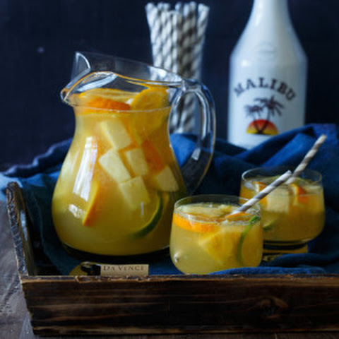 Tropical Pineapple Coconut Sangria