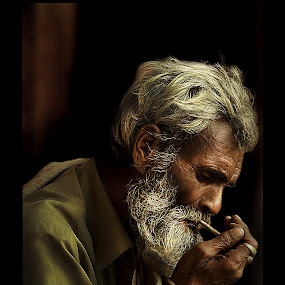 Old Man by Kallol Bhattacharjee - People Portraits of Men (  )