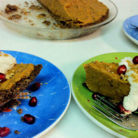 Sweet Potato Pumpkin Spiced Pie with Ginger Crumb Crust