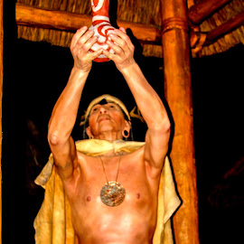 Cherokee Medicine Man by David Walters - People Portraits of Men ( canon, wax figure, artistic, museum, native american )