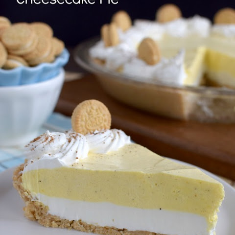 Eggnog Cheesecake Pie