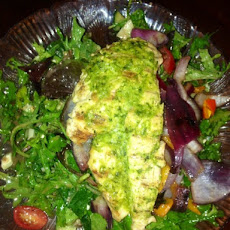 Grilled Basil Pesto Chicken Salad