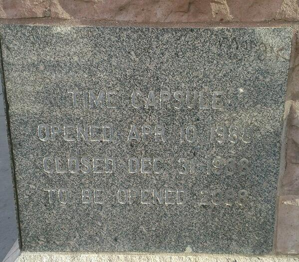 First time I have seen a reintured time capsule. Methodist Church in Denver. Submitted by LostToHistory